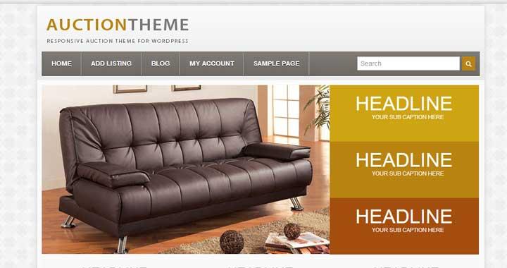 responsive auction theme